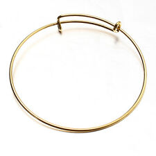 10cps New Sale Women's Golden Alloy Bangle Bracelets Jewelry Crafts Findings L