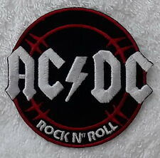 AC/DC ROCK AND ROLL Hard Rock Heavy Metal Embroidered Badge Patch