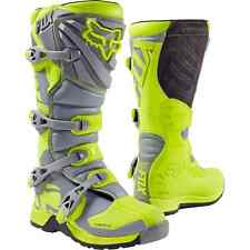 FOX 2017 STIVALI BOOTS MOTO CROSS COMP 5 GIALLO GRIGIO YELLOW GREY TG 10 44
