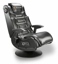 X Rocker ProSeries VIDEO GAME CHAIR, Pedestal Wireless Audio GAMING CHAIR, Black