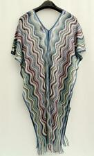 Missoni Knit Pattern Blue Cape Poncho Kaftan Scarf Made in Italy BNWT