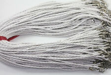 """10Pcs 18"""" Necklace Leather Cord Chain Findings String Rope With Lobster Clasps"""