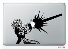 "1pc Apple Macbook air 13"" Decal Dragon ball Z Sticker Vinyl Die cut GOKU Sticker"