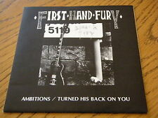 """FIRST HAND FURY - AMBITIONS  7"""" VINYL PS"""