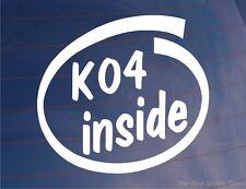 K04 dentro Novedad Turbo Deportes car/van/window / parachoques Vinilo calcomanía / etiqueta adhesiva