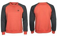 MENS BRAND NEW CREW NECK SWEATSHIRT LAMBRETTA IN CORAL COLOUR SALE PRICE