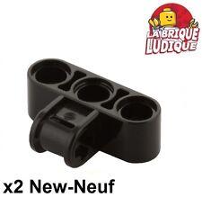 Lego technic - 2x pin axle connector perpendicular triple noir/black 63869 NEUF