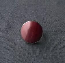 Colorato Solido Argento sterling rosa Ceramica o Porcellana anello misura N