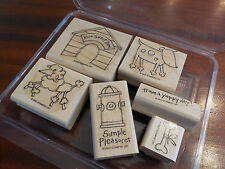 YAPPY DAY STAMPIN UP DOG HOUSE BONE FIRE HYDRANT  set of 6
