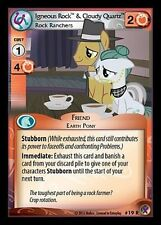 MY LITTLE PONY CCG MLP MARKS IN TIME : Igneous Rock & Cloudy Quartz 19R X 3