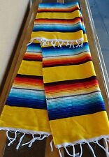 Serape Table Runner Yellow ONWS2X5 Southwest Southwestern Mexican Small Blanket