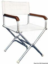 Osculati Sturdy High-Resistance White Vinyl Aluminium Folding Director Chair