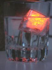 LED Eiswürfel Eis Würfel leuchtend orange 3 Blinkvarianten f. leuchtende Drinks