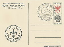 Poland postmark WARSZAWA - philatelic exhibition WW II scout post (analogous)