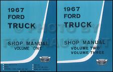 1967 Ford Shop Manual NEW Set Pickup F100 F250 F350-F1000 Repair Service Books