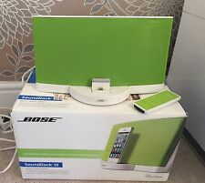 Limited Edition Green And White Bose Docking Station Sound Dock Series III Boxed