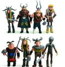 8 pcs Dreamworks How to Train Your Dragon Astrid Gobber Fishlegs Action Figures