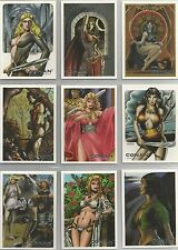 "Conan Art of the Hyborian Age - ""Savage Sisterhood"" 9 Card Chase Set #S1-9"