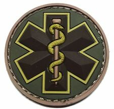 EMT STAR 3D PVC EMS MEDIC USA ARMY MORALE MEDICAL MULTICAM HOOK & LOOP PATCH