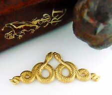 BRASS Motif Double SNAKES ~ SNAKE Stamping Egyptian Findings (C-509)