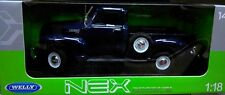 1953 Chevy 3100 Pickup Truck Die-cast 1:18 Navy Blue Welly 10 inch