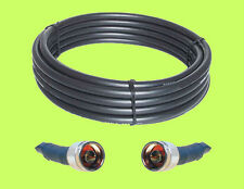 100 ft LMR400 Compatible RFC400 Coax Cable 50 Ohm N male Connectors Installed