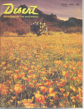 Poppies Eagle Eye Peak Desert Magazine April 1976 Palm Desert California