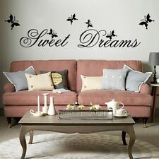 Sweet Dreams Removable Vinyl Quote Home Room Wall Sticker Decal Mural Décor