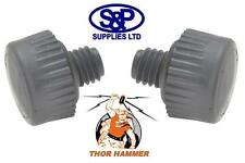 "THOR 710VF PAIR OF 32MM REPLACEMENT GREY ""SOFT"" HAMMER FACES FOR 710 THOR HAMMER"