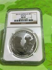 2011-P AUSTRALIA $1 KOALA BEAR 1 OZ. .999 SILVER NGC MS 69 WITH SMALL SPOTS