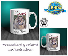 Eurasier Personalised Ceramic Mug: Perfect Gift. (D277)