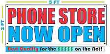 PHONE STORE NOW OPEN Banner Sign NEW Larger Size Best Quality for the $$$