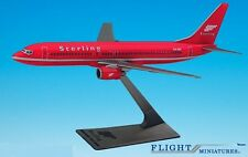 "Sterling ""Red"" 737-800 Airplane Miniature Model Plastic Snap-Fit 1:200 Part# ABO"
