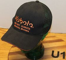 BIG SKY KUBOTA MISSOULA MONTANA HAT BLACK & ORANGE ADJUSTABLE VERY GOOD COND