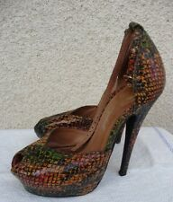 Jeffrey Campbell Platform Shoes Size 5, Animal Print