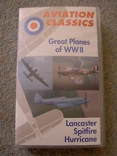 Great Planes of WWII: Spitfire, Lancaster, Hurricane VHS Video