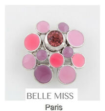 Luxus Ring Damenringe Fingerringe Kristall Belle Miss Paris Elastisch Emaille