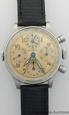 Very Rare Girard Perregaux Aero Compax Round Button Chronograph Vintage Watch