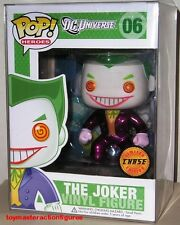 "FUNKO POP DC HEROES THE JOKER #06 CHASE Vinyl 3 3/4"" Figure MIMB IN STOCK"