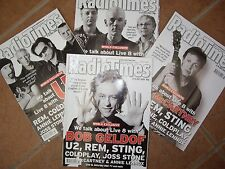 FOUR RADIO TIMES  (2005) LIVE 8 SPECIAL ISSUES ONE PRICE
