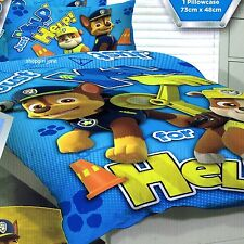 Paw Patrol - Just Yelp for Help - Single/US Twin Bed Quilt Doona Duvet Cover set