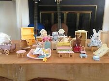 Calico Critters with accessories and furniture