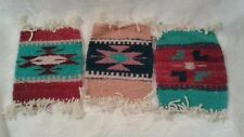 3 MAYO Wool Woven Rugs Blanket Miniature Southwest Native Mexican Doll House