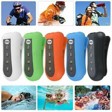 8GB Waterproof Swimming Diving Sports MP3 Music Player FM Radio &Clip + Earphone