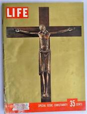 Vintage Life Magazine 1955 December 26 Special Issue Christianity Harvard Monks