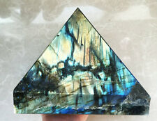 5020g TOP!!! NATURAL Labradorite Quartz Pyramid Crystal Healing