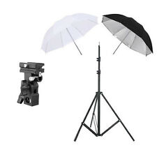 "Photograph kits 33"" Black/Silver + translucent Umbrella + Light Stand +Bracket B"
