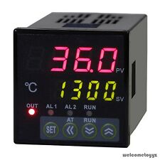 Dual Digital LED PID Temperature Controller + K-Thermocouple + 25A SSR