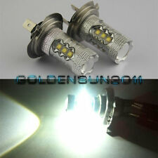 2x H7 80w LED Bulbs Super Bright White fog running light bulbs For Audi BMW Kia