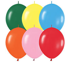 "10ct COLOR ASSORTED  Link-o-Loon 12"" Latex Helium Linking Balloons ARCHES ARBORS"